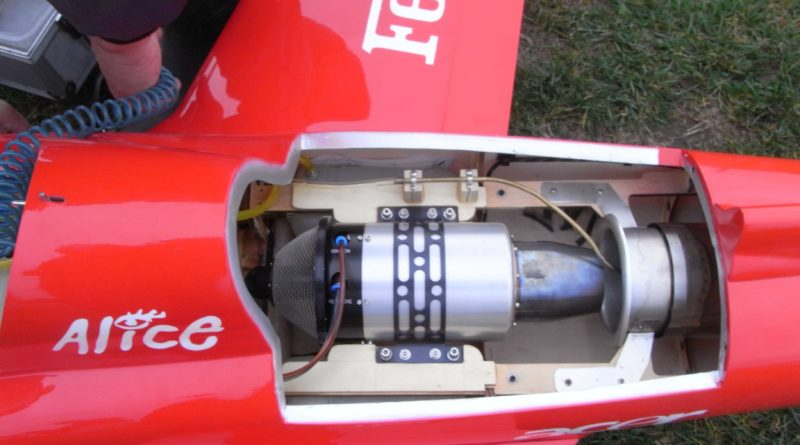 Düsentriebwerk für Modelle